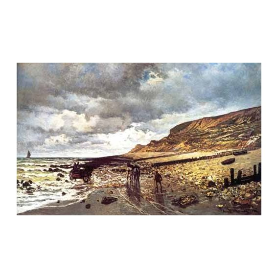 cuadros de marinas - Cuadro -El Cabo de Heve con marea baja-
