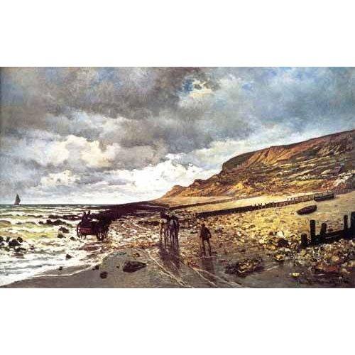 Cuadro -El Cabo de Heve con marea baja-