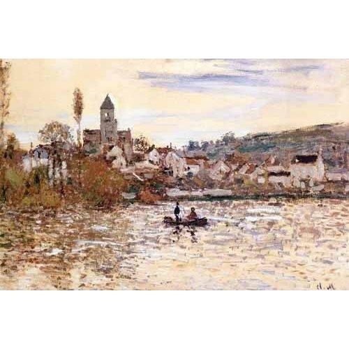 cuadros de paisajes - Cuadro -El Sena en Vetheuil-