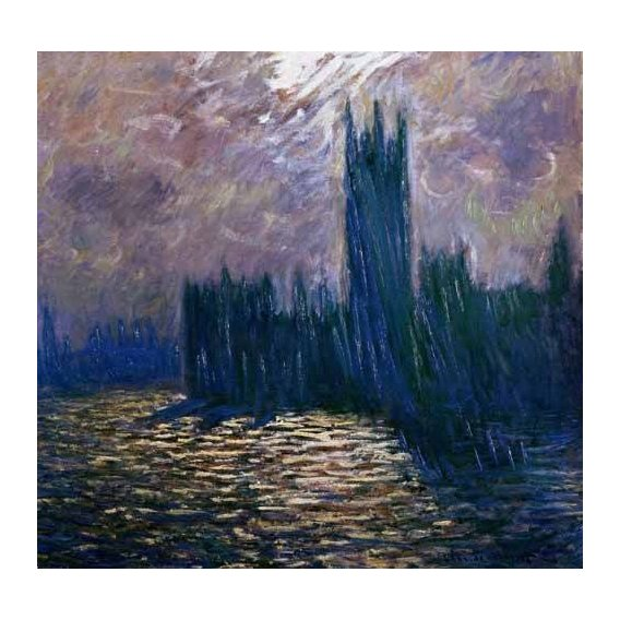 cuadros de paisajes - Cuadro -London Parliament, effects on the Thames, 1905-