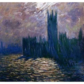 - Cuadro -London Parliament, effects on the Thames, 1905- - Monet, Claude
