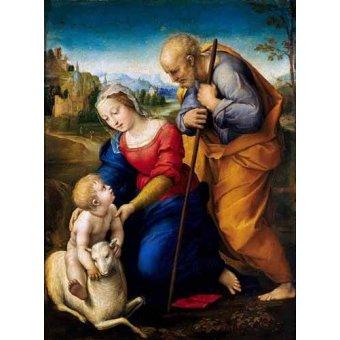 - Cuadro -La Sagrada Familia del Cordero- - Rafael, Sanzio da Urbino Raffael