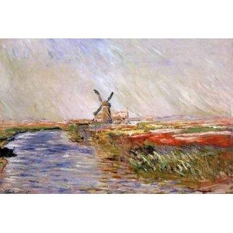 Cuadro -El campo de tulipanes, Holanda- - Monet, Claude