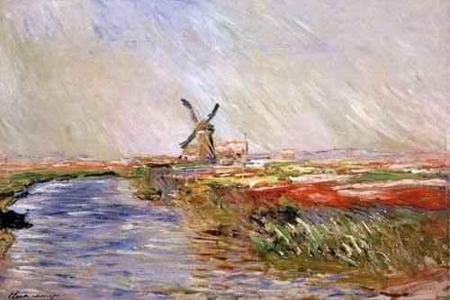cuadros-de-paisajes - Cuadro -El campo de tulipanes, Holanda- - Monet, Claude