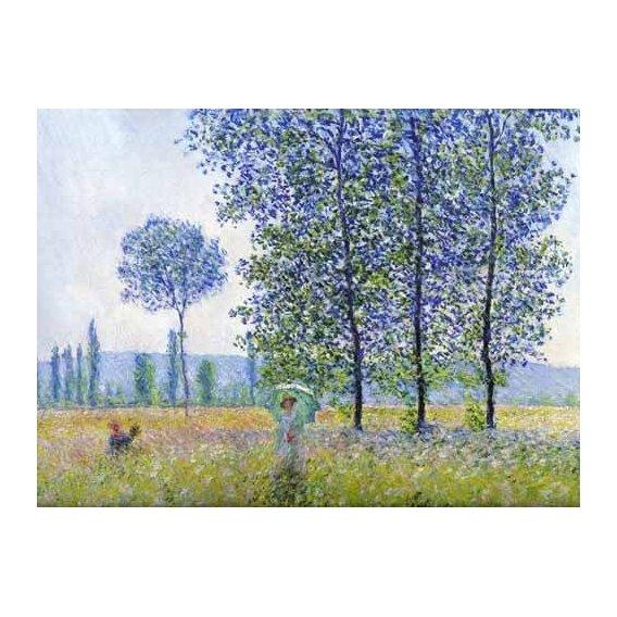 cuadros de paisajes - Cuadro -Sunlight effect poplars Sun, 1887-
