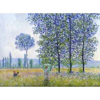 Hall - Cuadro -Sunlight effect poplars Sun, 1887- - Monet, Claude