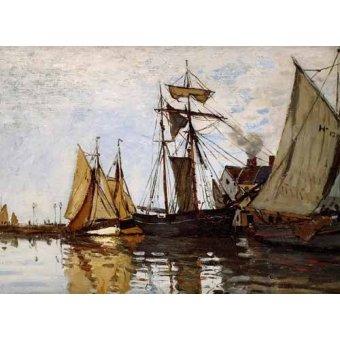 cuadros de marinas - Cuadro -Pont of Honfleur Sun- - Monet, Claude