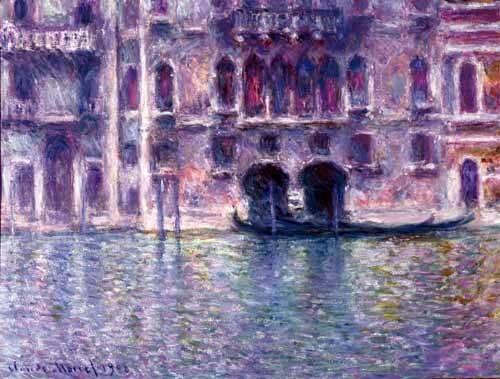 cuadros-de-paisajes - Cuadro -El Palazzo de Mula, Venecia, 1908- - Monet, Claude