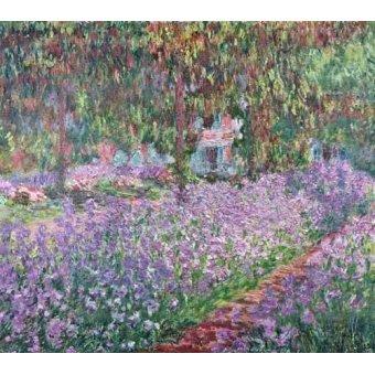 - Cuadro -El jardin del artista en Giverny- - Monet, Claude