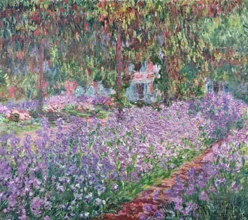 cuadros-de-paisajes - Cuadro -El jardin del artista en Giverny- - Monet, Claude