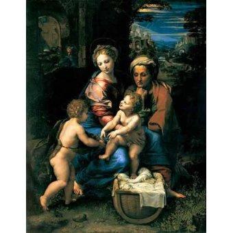 - Cuadro -La Sagrada Familia de la Perla- - Rafael, Sanzio da Urbino Raffael