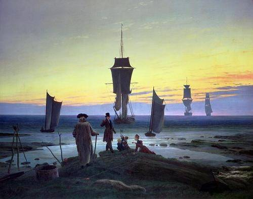 cuadros-de-marinas - Cuadro -The Stages of Life, 1835- - Friedrich, Caspar David