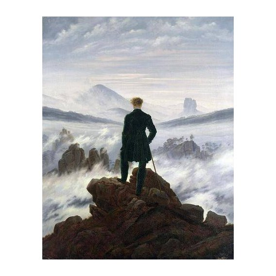 cuadros de paisajes - Cuadro -The Wanderer above the Sea of Fog, 1818-