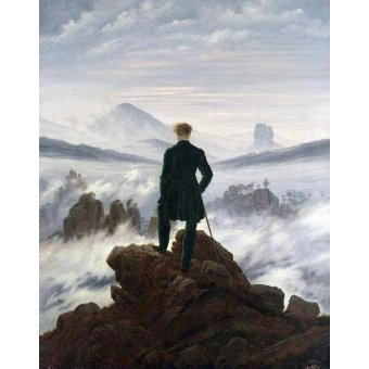 cuadros de paisajes - Cuadro -The Wanderer above the Sea of Fog, 1818- - Friedrich, Caspar David