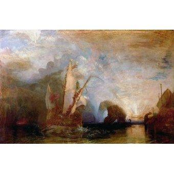 cuadros de marinas - Cuadro -Ulisses Deriding Polyphemus, 1829- - Turner, Joseph M. William