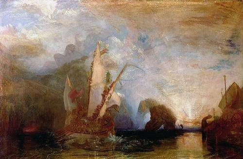 cuadros-de-marinas - Cuadro -Ulisses Deriding Polyphemus, 1829- - Turner, Joseph M. William