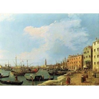 cuadros de marinas - Cuadro -The Riva Degli Schiavoni, 1724-30- - Canaletto, Giovanni A. Canal