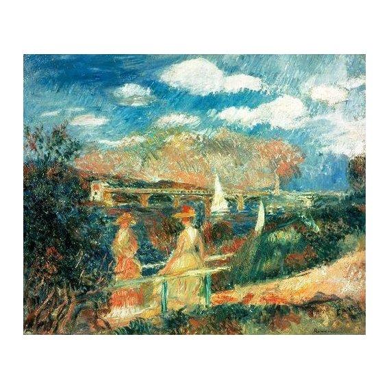 cuadros de marinas - Cuadro -The Banks of the Seine at Argenteuil, 1880-