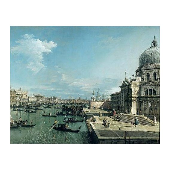 cuadros de marinas - Cuadro -The Entrance to the Grand Canal, Venice-