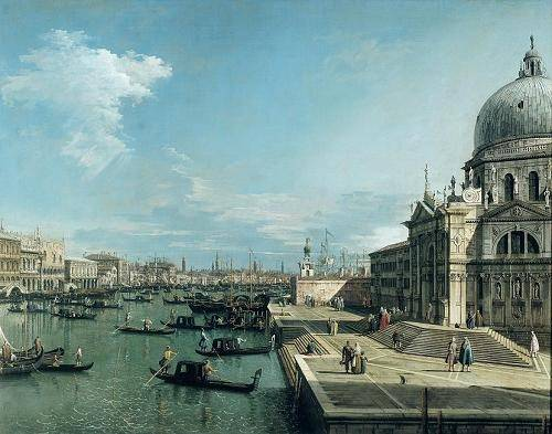 cuadros-de-marinas - Cuadro -The Entrance to the Grand Canal, Venice- - Canaletto, Giovanni A. Canal