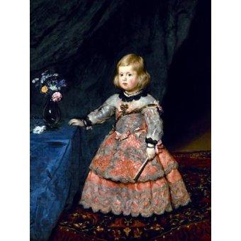 - Cuadro -Retrato de la Infanta Margarita a la edad de tres años- - Velazquez, Diego de Silva