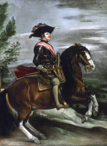 cuadros-de-retrato - Cuadro -Felipe IV, Rey de España- - Velazquez, Diego de Silva