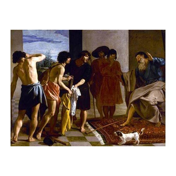 cuadros de retrato - Cuadro -La túnica de José-
