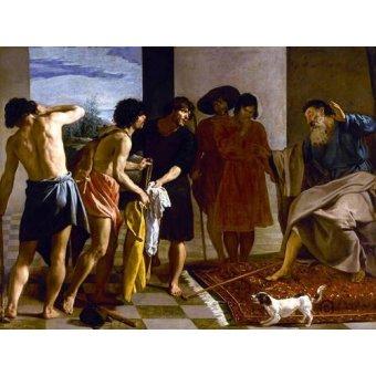 - Cuadro -La túnica de José- - Velazquez, Diego de Silva