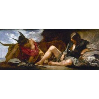 - Cuadro -Mercurio y Argos- - Velazquez, Diego de Silva