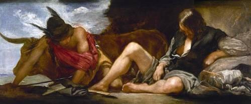 cuadros-de-retrato - Cuadro -Mercurio y Argos- - Velazquez, Diego de Silva