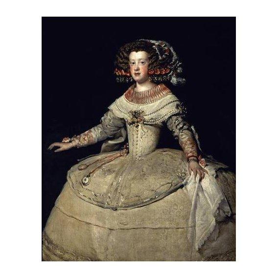cuadros de retrato - Cuadro -Retrato de la Infanta Maria Teresa, hija del Rey Felipe IV-
