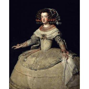 - Cuadro -Retrato de la Infanta Maria Teresa, hija del Rey Felipe IV- - Velazquez, Diego de Silva