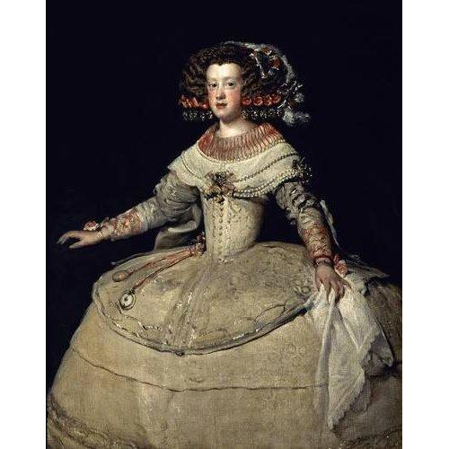 Cuadro -Retrato de la Infanta Maria Teresa, hija del Rey Felipe IV-