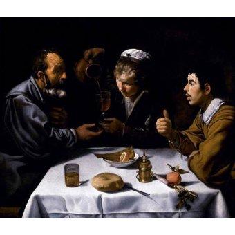 - Cuadro -El almuerzo- - Velazquez, Diego de Silva