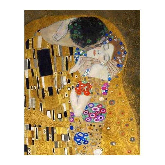cuadros de retrato - Cuadro -El beso (detalle)-