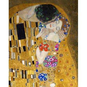 cuadros de retrato - Cuadro -El beso (detalle)- - Klimt, Gustav