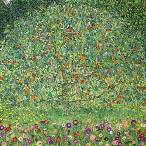 cuadros-de-paisajes - Cuadro -El manzano, 1912- - Klimt, Gustav