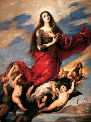 cuadros-religiosos - Cuadro -El tránsito de la Magdalena- - Ribera, Jose de