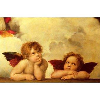 - Cuadro -Los dos angeles- - Rafael, Sanzio da Urbino Raffael