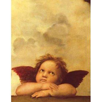 Cuadro -Los dos angeles (detalle angel dcha).-