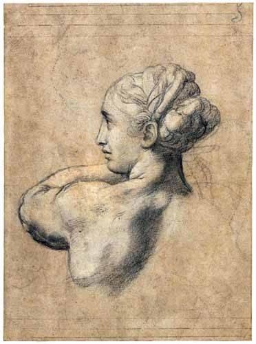 cuadros-de-retrato - Cuadro -Head_of_a_Woman- - Rafael, Sanzio da Urbino Raffael