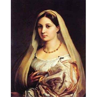 cuadros de retrato - Cuadro -Mujer con velo- - Rafael, Sanzio da Urbino Raffael