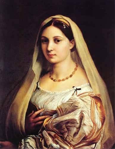 cuadros-de-retrato - Cuadro -Mujer con velo- - Rafael, Sanzio da Urbino Raffael