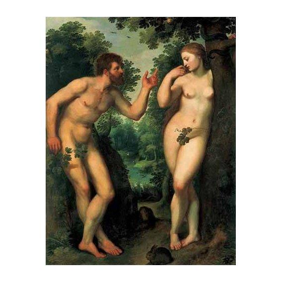 cuadros religiosos - Cuadro -Adán y Eva-
