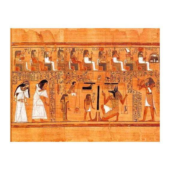 cuadros etnicos y oriente - Cuadro -Libro de los muertos (de Ani): El Tribunal de los Dioses-