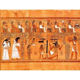 - Cuadro -Libro de los muertos (de Ani): El Tribunal de los Dioses- - _Anónimo Egipcio