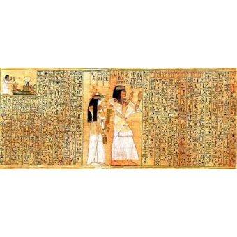 - Cuadro -Libro de los muertos (de Ani): Osiris- - _Anónimo Egipcio