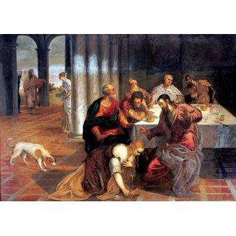 - Cuadro -La conversión de Magdalena- - Tintoretto, Jacopo Robusti