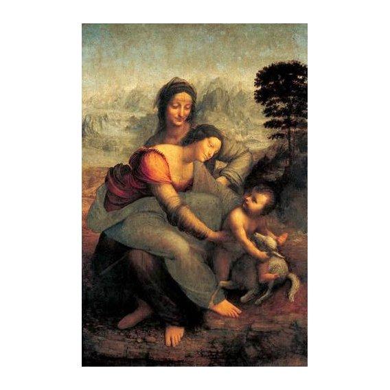 cuadros religiosos - Cuadro -La Virgen, el Niño y Santa Ana con un cordero-