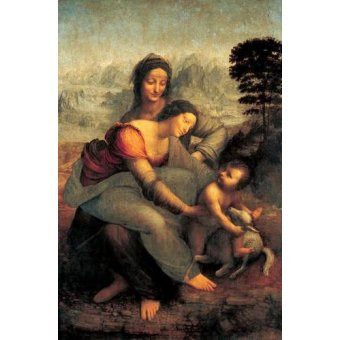 - Cuadro -La Virgen, el Niño y Santa Ana con un cordero- - Vinci, Leonardo da